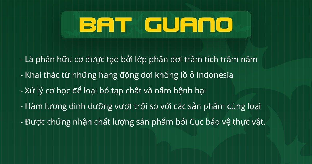 Phân dơi hữu cơ Bat Guano nhập khẩu