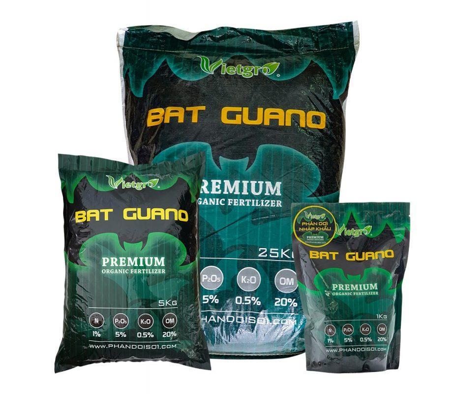 Phân dơi hữu cơ nhập khẩu Bat Guano 1kg, 5kg và 25kg
