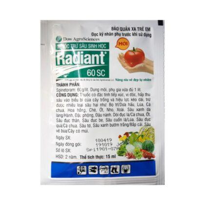 Radiant 60SC | Thuốc trừ sâu sinh học - Đặc trị bọ trĩ