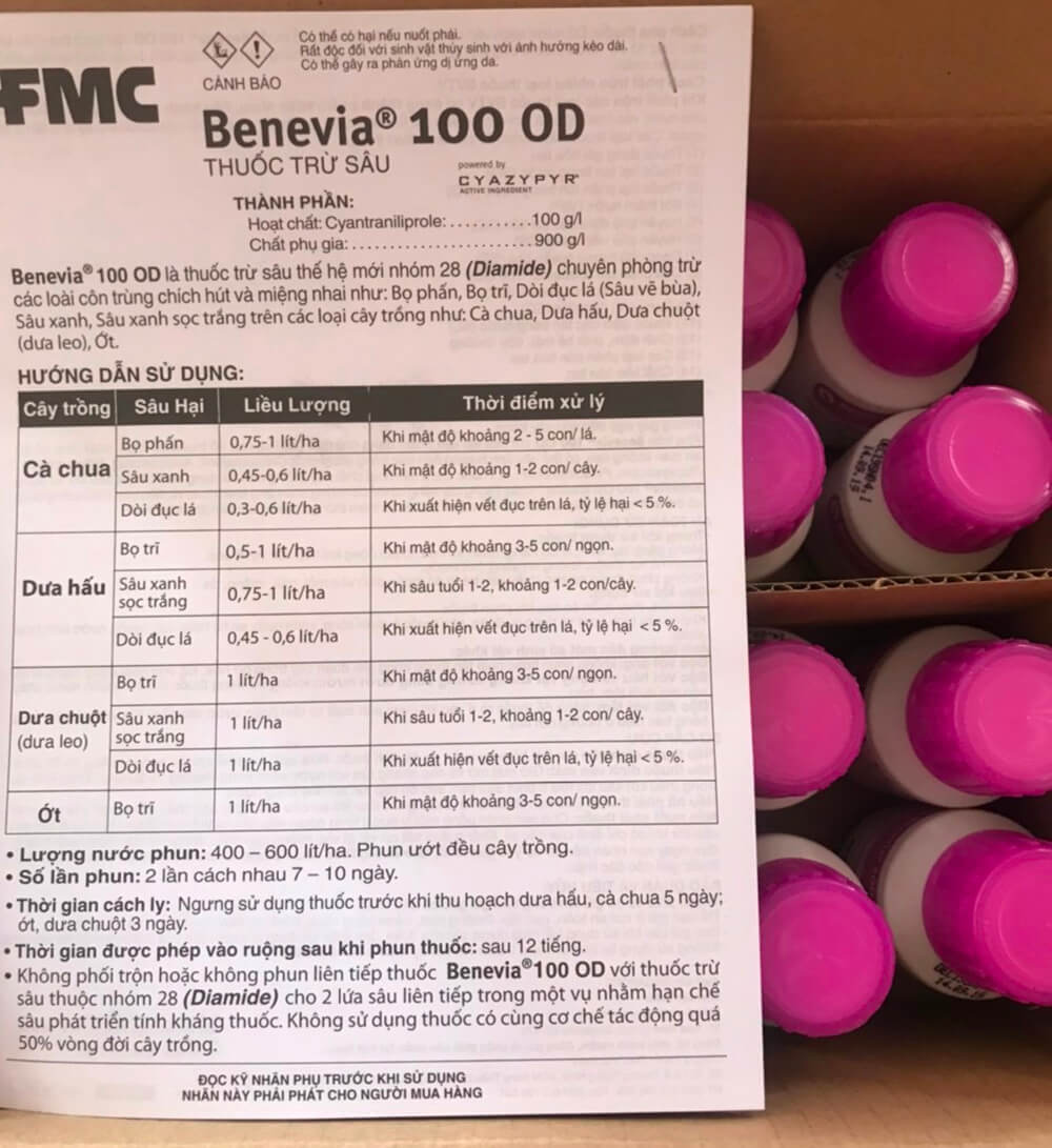 Benevia 100 OD | Thuốc trừ sâu Đặc trị Bọ Trĩ, Bọ Phấn, Dòi đục lá