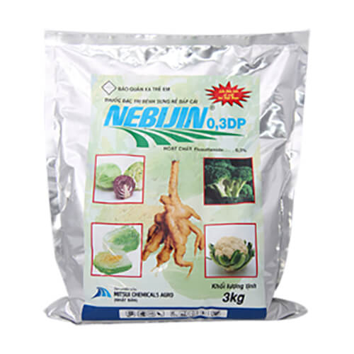 Nebijin 0.3DP (3kg) - Thuốc đặc trị bệnh sưng rễ bắp cải