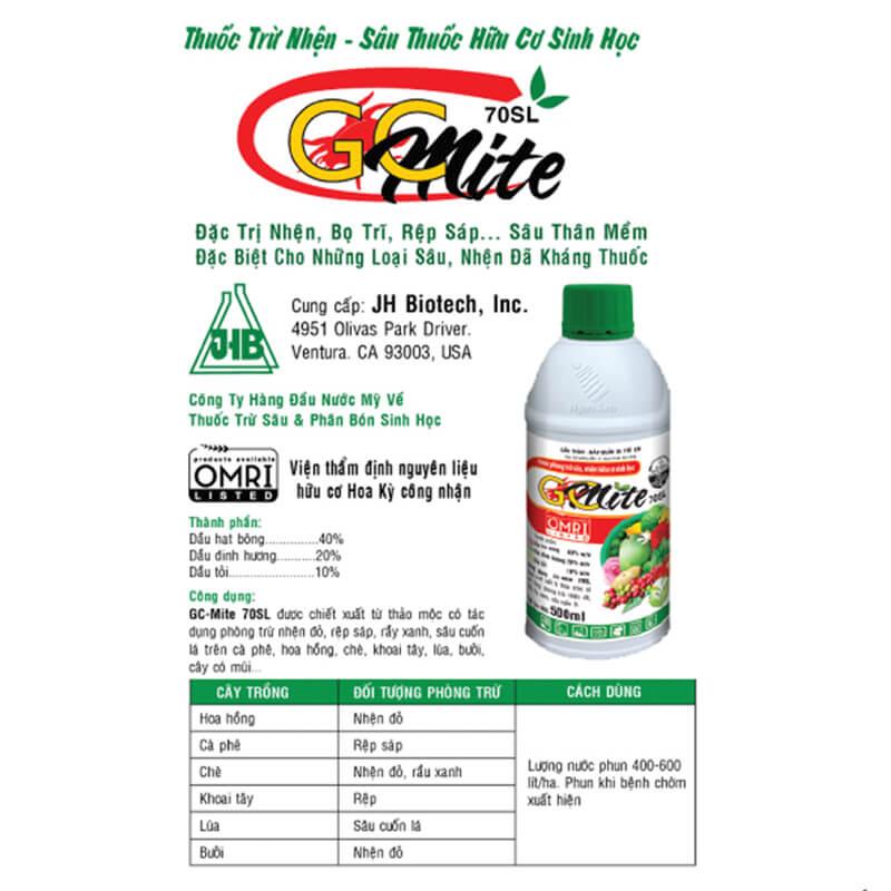GC-Mite 70SL (500ml) - Thuốc trừ sâu sinh học